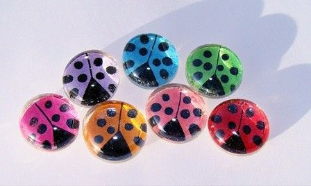 ladybug magnet craft with those glass marbles. I could make those easy!