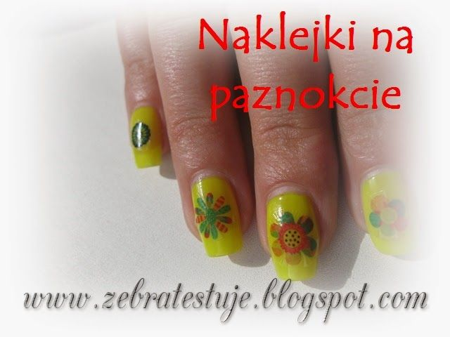 Zebra Testuje: Naklejki wodne na paznokcie :]