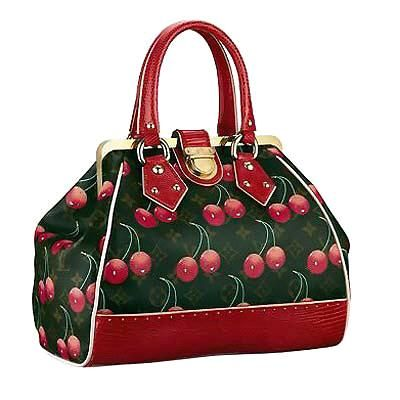 cherry print Loius Vuitton. I can't afford it...but I can look at it.