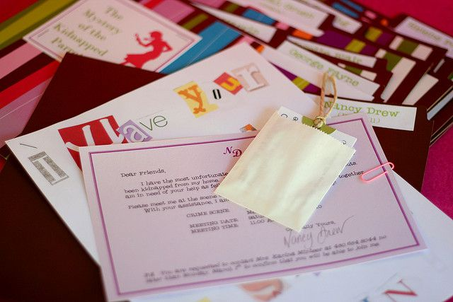 Nancy Drew Party Invitations by Bunches and Bits {Karina}, via Flickr