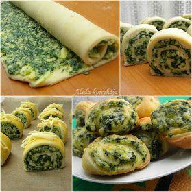 Aleda konyhája: Medvehagymás sajtos tekercs