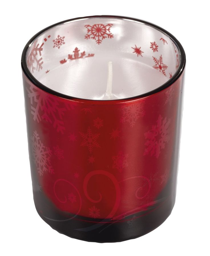 6 Holiday Christmas Red Metallic Glass Votive Holders with Candles Inside with 3 Different Designs * Final call for this special discount  : Candles Holders Decor