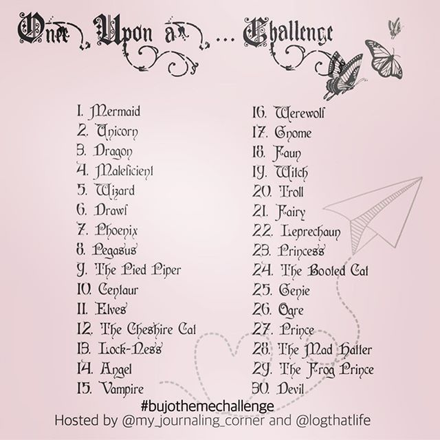 Once upon a... challenge ✨ - I've teamed up with the amazing Clarissa from @my_journaling_corner - and together we've made a challenge for all of us who cannot choose. You can draw, doodle, quote og make a six word story - whatever the word of the day inspires you to. I hope you want to join us! Use the hashtag #bujothemechallenge so we can inspire each other •••