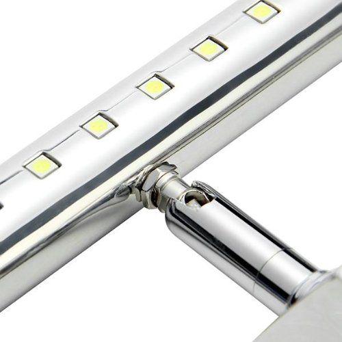 Best CroLED W LED SMD Edelstahl Spiegelleuchte Badlampe Spiegellampe Wandleuchte Wei Amazon de