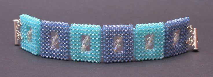 W wolnej chwili ...: Bransoletka w kolorach Blue Sky/  Cubic Right Angle Weave.