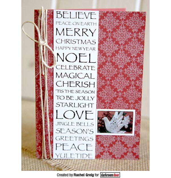 Card created by Rachel Greig using Darkroom Door Background Stamp - Star