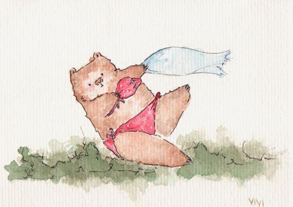 Day 74 - Pin-up Bear - Vivi Ribeiro | Flickr (cc)