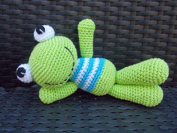 Kikkertje (met link naar gratis patroon) / frog (with link to free pattern)
