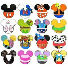 Mickey Mouse Icon Mystery Pin Set - 5-Pc | Pins (Individual) |