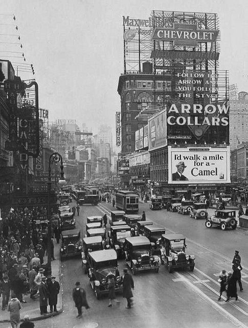 New York City.  - Times Square in the 1920s