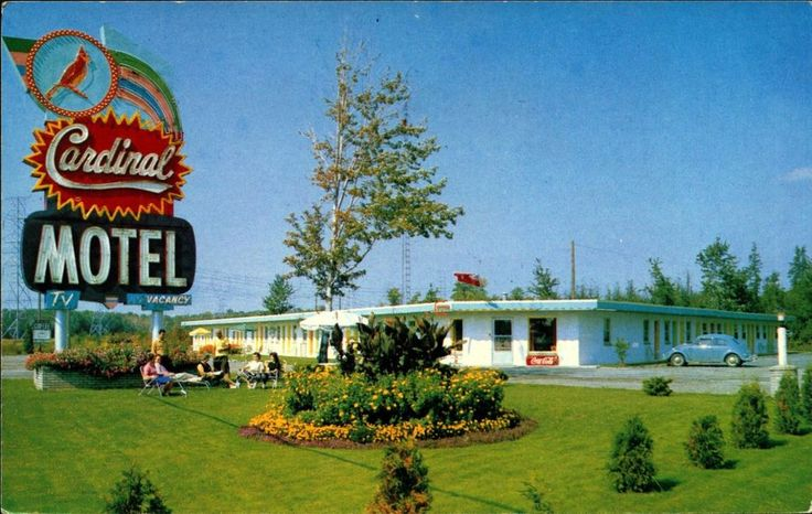 CORNWALL, ONTARIO, CANADA, Cardinal Motel, Hwy 2, Vintage Postcard CAN588659