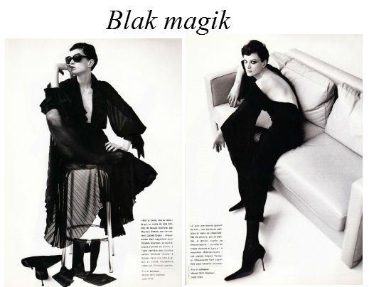 Kristen McMenamy by Karl Lagerfeld