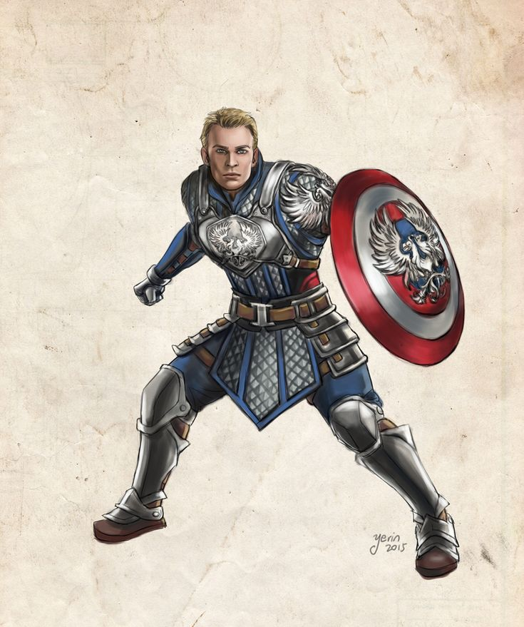 Captain America in Dragon Age AU by slugette.deviantart.com on @DeviantArt