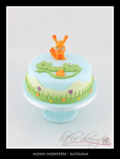 Moshi Monsters Katsuma Cake by Little Cherry Cake Company, via Flickr