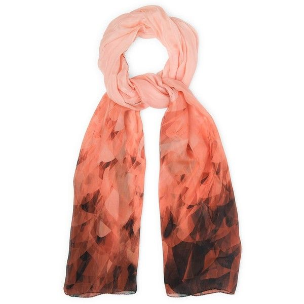 L.K. Bennett Olivia Silk Graphic Print Scarf (160 CAD) found on Polyvore