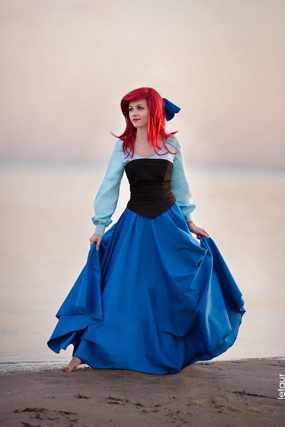 9458720a3ea2 Ariel Cosplay Dress Costume Disney Princess The Little Mermaid in ...