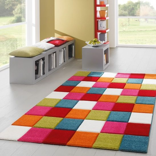 Teppich bunt  Babyzimmer  Pinterest  Modern living and