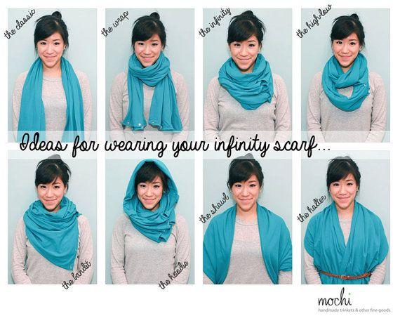 Grey Infinity Scarf W Snap Buttons Multiwear By Shopmochi