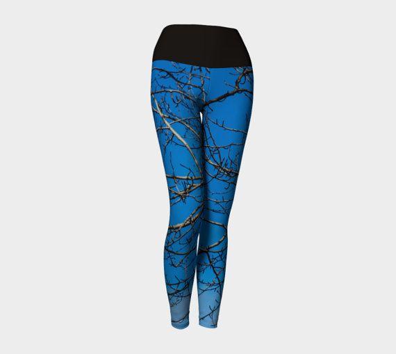 Tree Branch Yoga Leggings | Sky Yoga Leggings | Boho Yoga Leggings | Modern Yoga Leggings | Tree Leggings | Teen Leggings | Workout Leggings