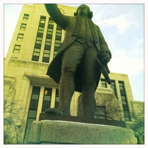 captain vancouver at city hall.