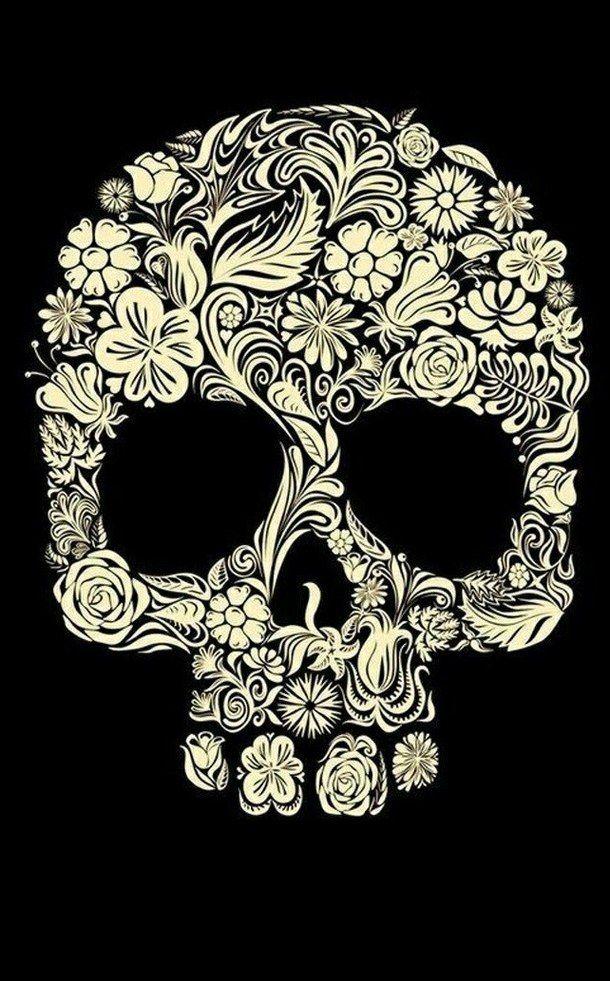 back, background, backgrounds, cute, fondos, rock, skull, wallpapers, First Set on Favim.com