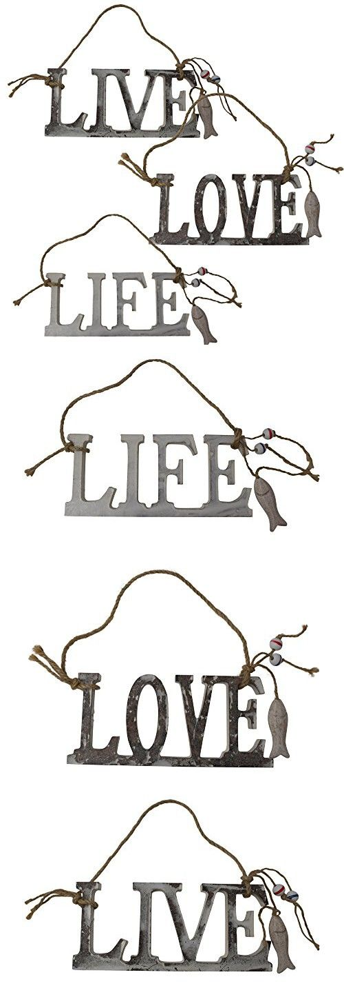 Unique Inspirational Hanging Wooden Sign Live Love Life Plaque Nautical Coastal Wall Art Dcor For Home Kitchen Bedroom Bathroom Office Cabin Outdoors And Wedding Beach Fishing Boat Theme Accessories