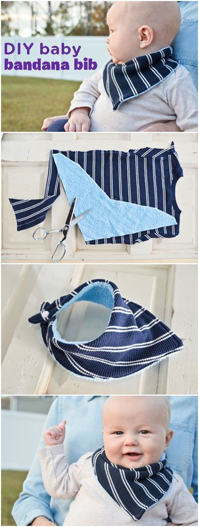 Deck out your baby with a DIY Bandana Bib for a creative and stylish way to keep messes to a minimum. Plus, it'll make your kiddo look like an adorable little cowboy, and who doesn't love cowboys?