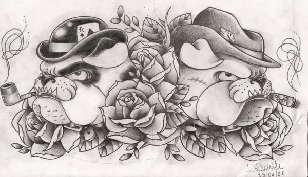 bulldog tattoo designs | Big Tattoo Planet Community Forum - lucilesk's Album: Drawings ...