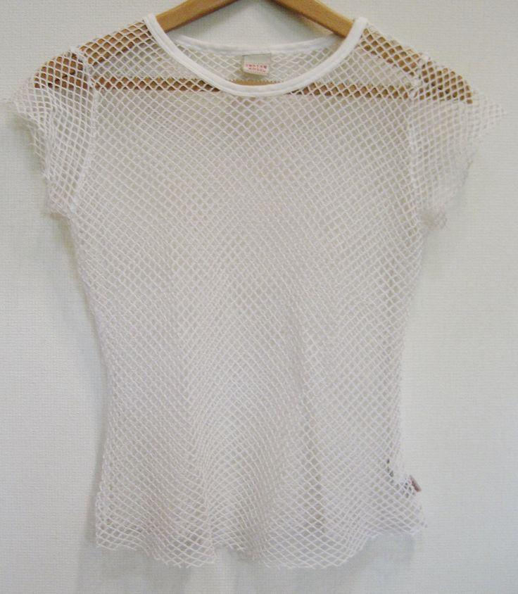 White fishnet top - 90's VTG