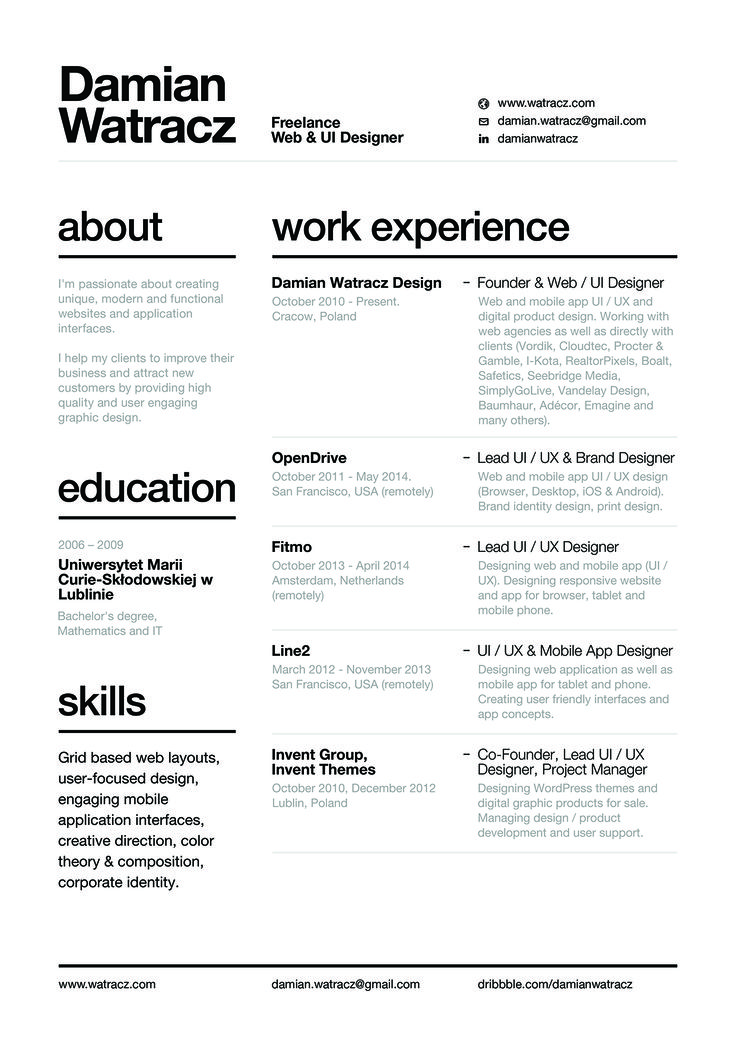 46 best Resumes images on Pinterest Career, Cv resume template - product designer resume