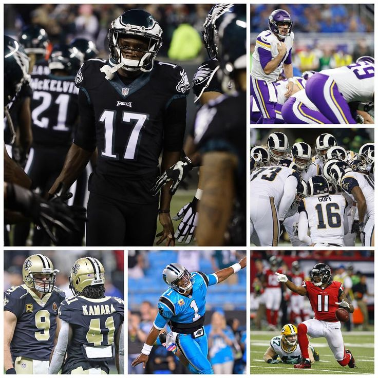 #NFC Playoff Standings 1. #PhiladelphiaEagles (13-3) 2. #MinnesotaVikings (13-3) 3. #LosAngelesRams (11-5) 4. #NewOrleansSaints (11-5) 5. #CarolinaPanthers (11-5) 6. #AtlantaFalcons (10-6)  Who you got making it out of the NFC?! #NFLPlayoffs