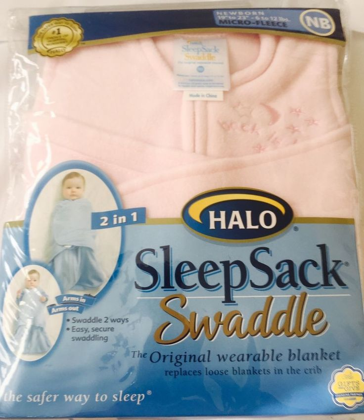 Brand New Halo SleepSack Micro Fleece Swaddle Soft Pink New Born | eBay