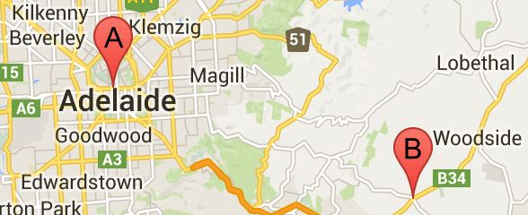 Map of #Adelaide Metro