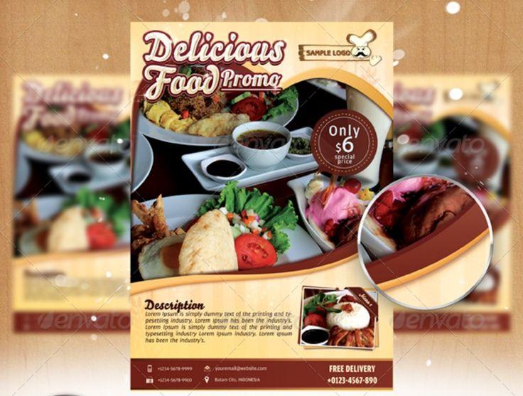 Elegant Food Flyer Template PSD