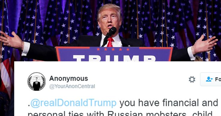 Anonymous Just Took An Interest In Donald Trump's Russian Lady Pee Saga (TWEETS) By John Prager on January 15, 2017