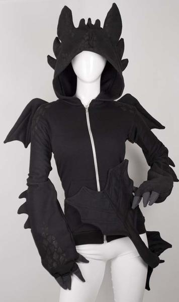 HTTAD: Nightfury/Toothless Hoodie   - I found 'Cute Dragon Hoodie' on Wish, check it out!