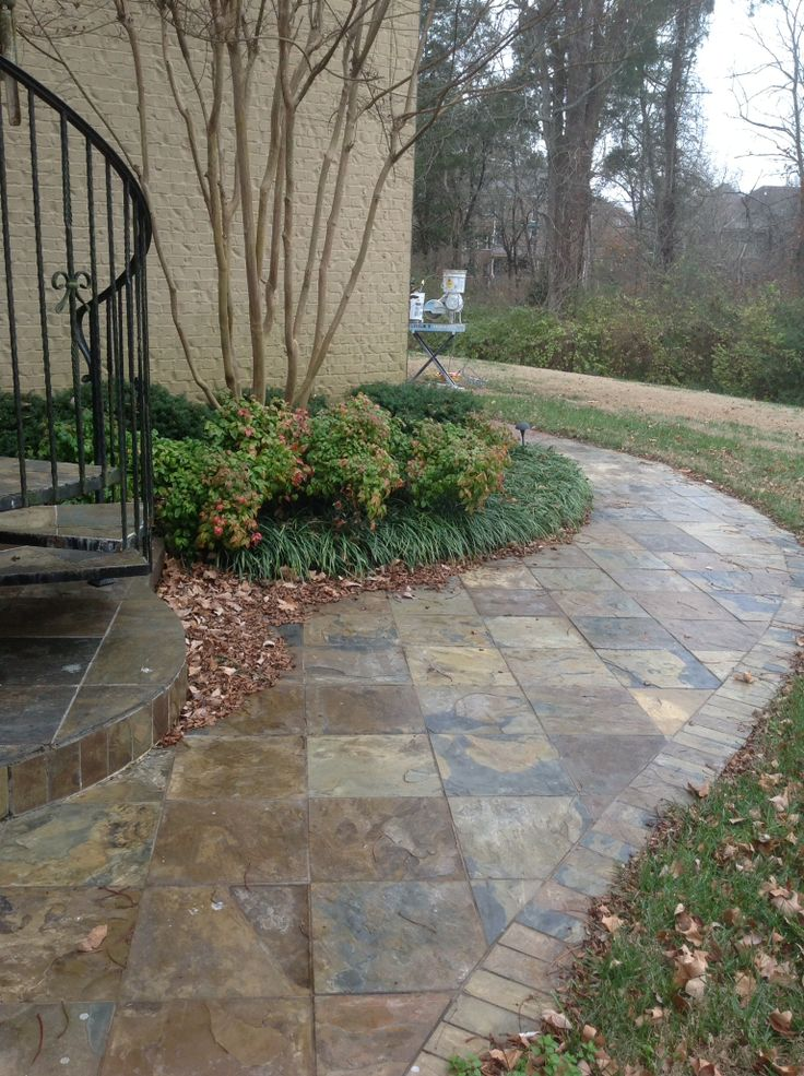 Slate Walkway Floor Tile Amp Steps Pinterest Slate