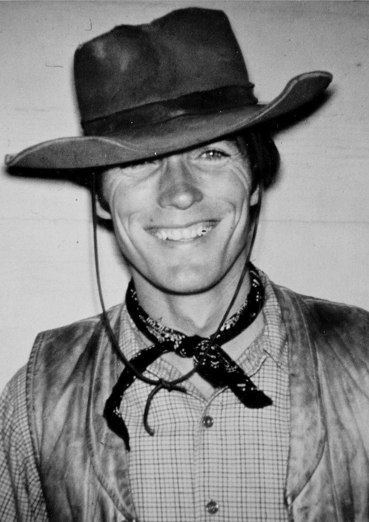 Clint Eastwood on the set of Rawhide, 1960s.
