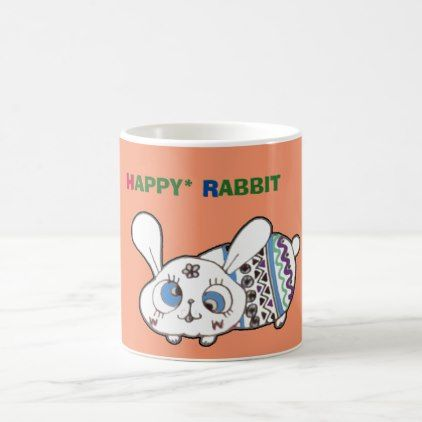 Happy Easter Rabbit Coffee Mug - happy easter egg holiday family diy custom personalize