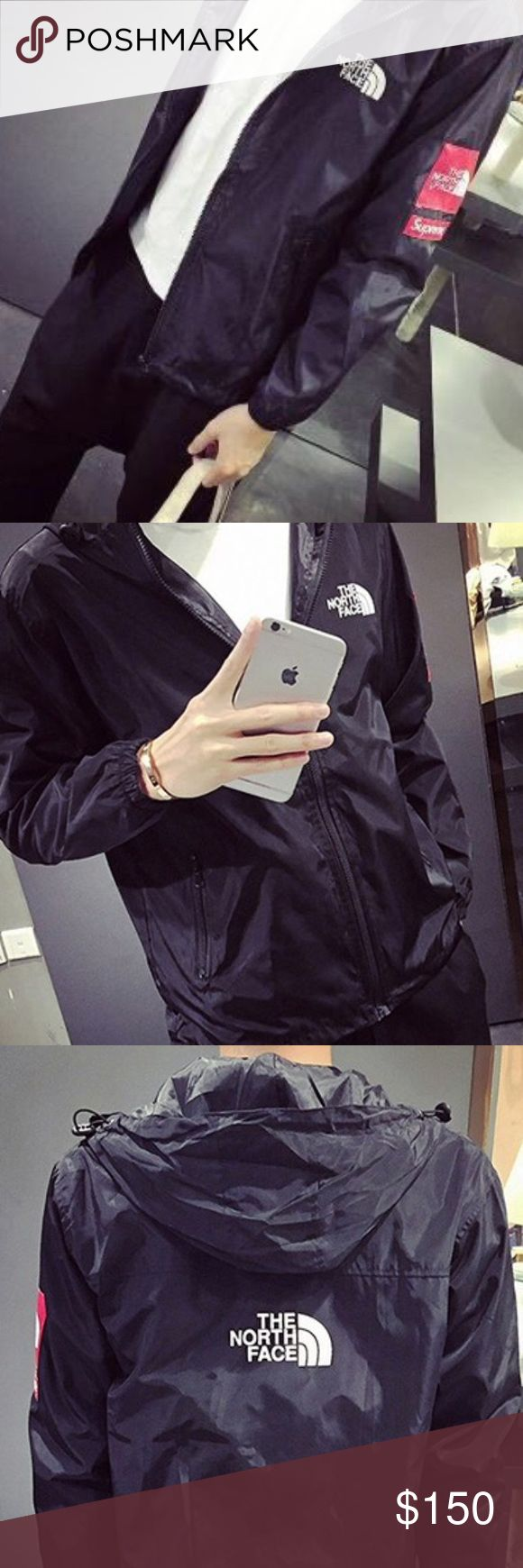 The North Face Supreme Windbreaker ONLY AVAILABLE IN BLACK~~Size M~~PRICE IS FIRM. $139 on Merc;) The North Face Jackets & Coats
