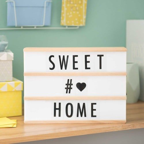 bo te lumineuse messages lightbox led a4 led messages. Black Bedroom Furniture Sets. Home Design Ideas