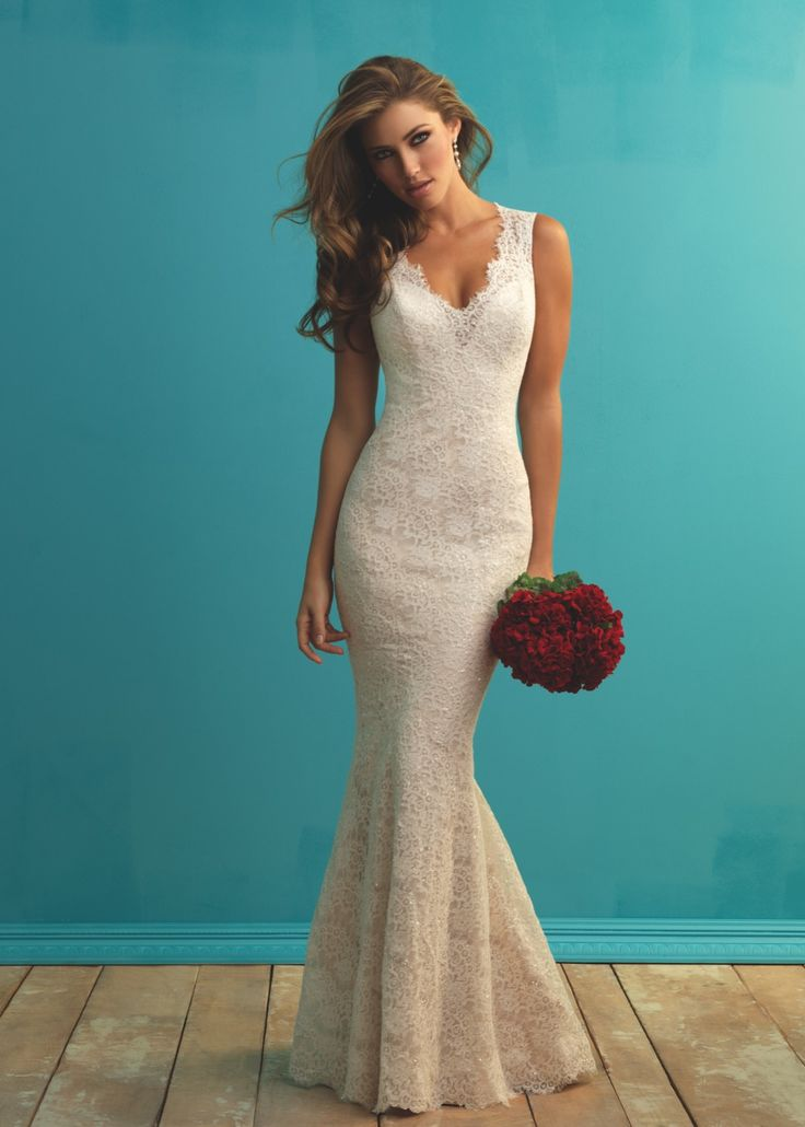 Style 9253 Allure Bridals. 6 fishtail wedding dresses inspired by Michelle Keegan #fishtail