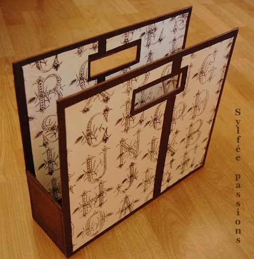 cardboard magazine rack single tutorial