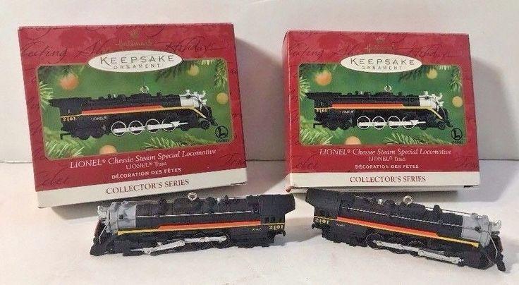 2 Hallmark Lionel Chessie Steam Special LOCOMOTIVE 2001 Train Engine ORNAMENT's #eBayDanna