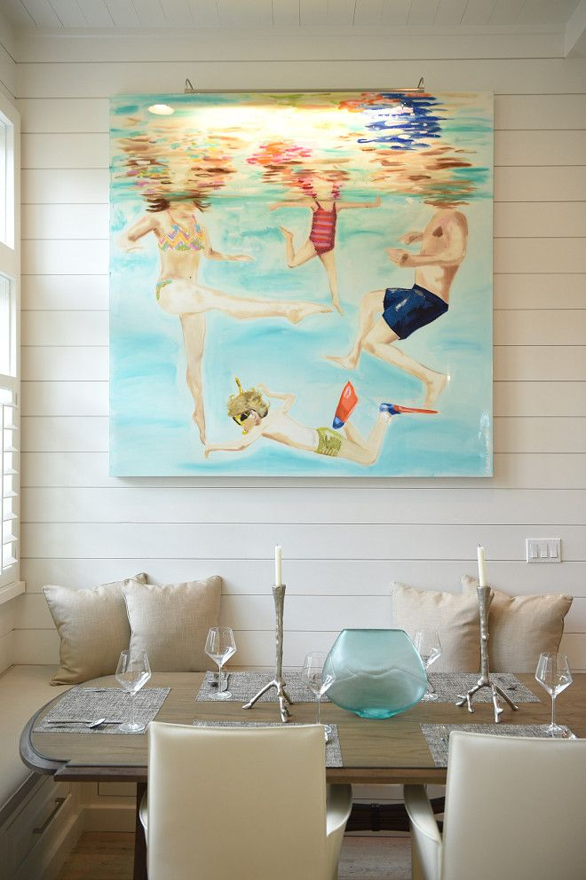 Art Work Beach House With Transitional Coastal Interiors Interior Designer Courtney Dickey