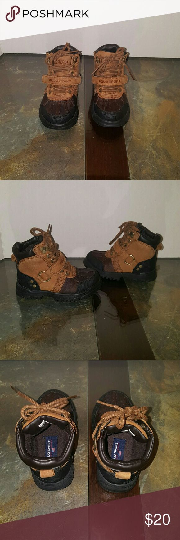 Polo Ralph Lauren boots New Leather boots,rubber sole and buckle lace up closer,price firm Polo by Ralph Lauren Shoes Boots