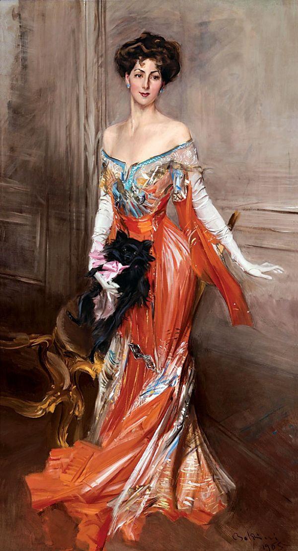 Madame de Pompadour (Elizabeth Wharton Drexel by Giovanni Boldini, 1911)