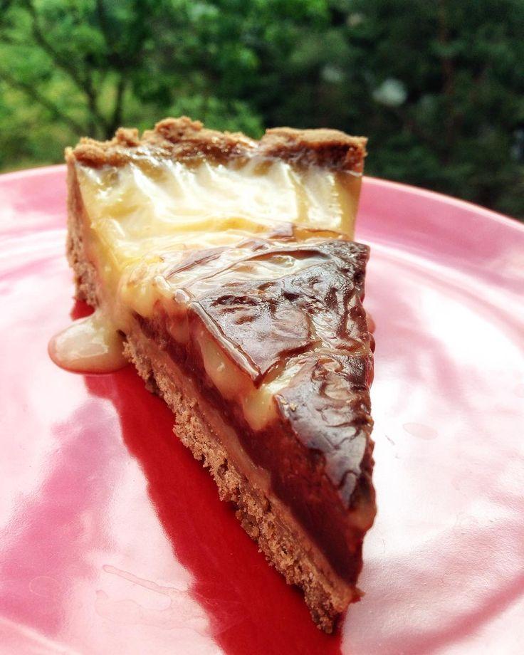 #vegan #lemoncake #firsttry #vanillapudding #darkchocolate Jenda si objednal…