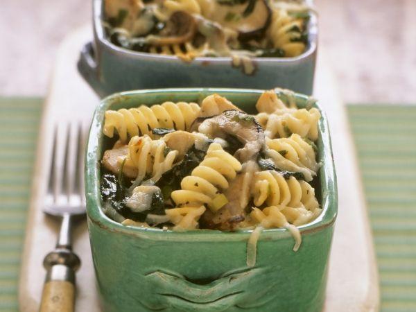Spirelli met spinazie en champignons - Libelle Lekker!