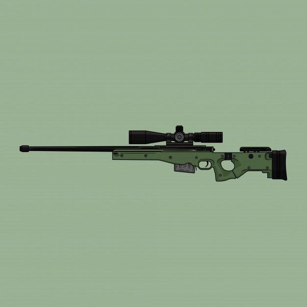 Awm Sniper Vector Premium Vector Sniper Guns Drawing Hd Cool Wallpapers